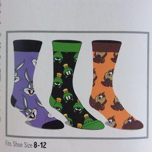Looney Tunes Crew Socks Set of 3